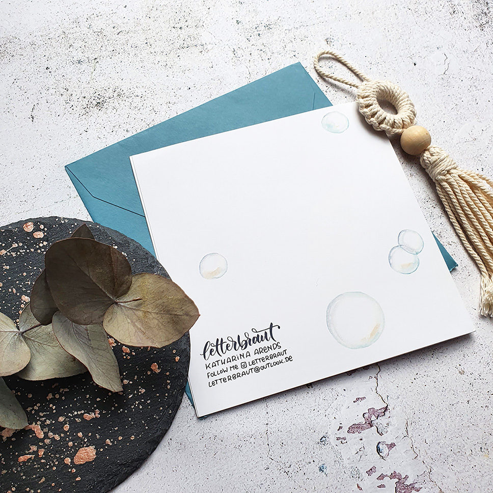 Geburtskarte.Handlettering.Aquarell