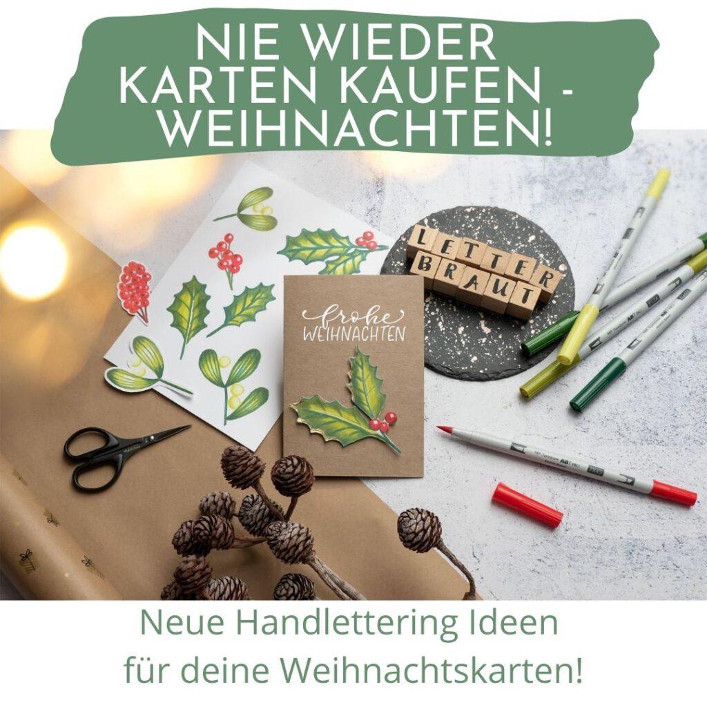 Online Handlettering Workshop Weihnachten